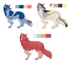 3 Canines by kestral