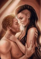 Cullen and Rayne by DracoAngelz
