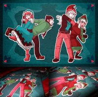 Snowball Fight: 2012 Card by miluette
