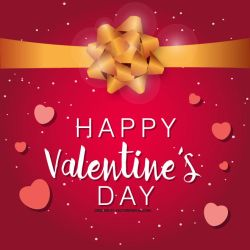 Valentine's day vector greeting card by Vectorportal