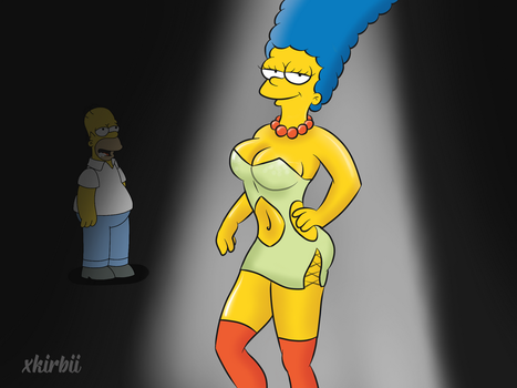 Marge in the Spotlight by xkirbii