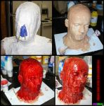 Inverted Flesh Silicone Mask by AetherAnvil