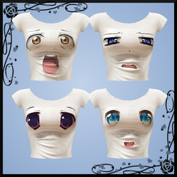 Anime Face T-Shirts DOWNLOAD by Reseliee