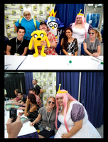 Adventure Time at Comic Con Int 2011 by Mlarad