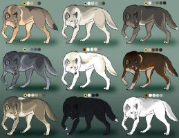 Realistic Wolf Customs by Sedillo-Kennels