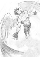 B-Angel flying by Felsus