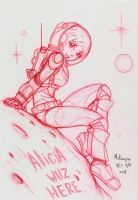 Alicia wuz here  by RedShoulder