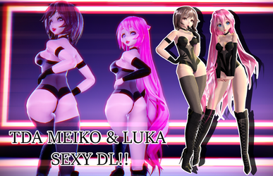 MMD TDA Luka and Meiko sexy DL!!! by marceline23marshall