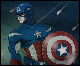 Captain Avenger by bvcomics
