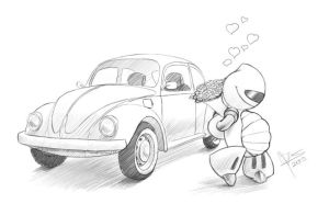 $10 Commish: Bug love by TheNass