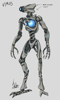 Virus Redesign concept by darth-biomech