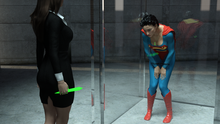 Superwoman being imprisoned - Commission by rustedpeaces