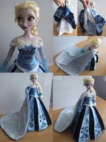 Frozen Queen Elsa coronation dress A-style details by kara023