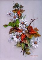 Autumn2, ribbon embroidered picture. by TetianaKorobeinyk