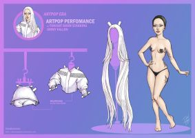 [New] Lady Gaga Paper Doll: ARTPOP at Tonight Show by DibuMadHatter
