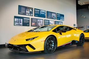 Yellow Huracan Performante by SeanTheCarSpotter
