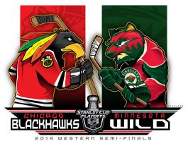 NHL-PLAYOFFS-Rd2 Blackhawks vs. Wild by Epoole88