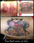 Snorlax tattoo cover up by Secret-Rendez-vous