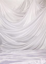 White Drapes Backdrop by XenaQuill