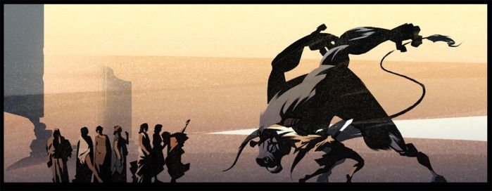 Theseus And The Minotaur by Bloommer