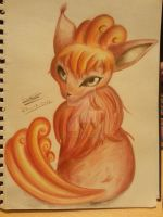 Vulpix in Coloured Pencils by LatiasLegend39