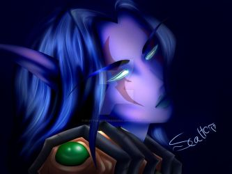 Riderr (Female Night Elf Warrior) by ScatterSenbonzakura