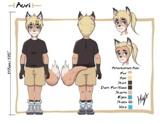 Auri Reference Sheet by Muy-x