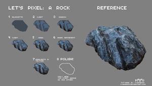 Let's Pixel: A Rock by Cyangmou