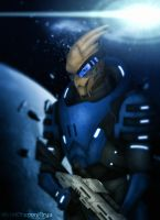 Mass Effect 2 - Garrus by OrbitalWings