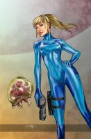 SAMUS and THE METROID by Culterano7