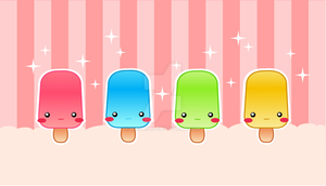 Cute Popsicles by Nashiil