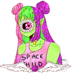 Space Girl by xXStarryPuffyDreamXx