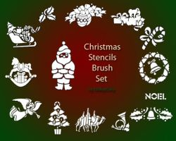 Christmas Brush Set by ElleAyeEsAy
