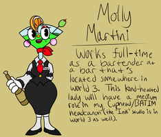 BATIM and Inked Cuphead HC Molly Martini ref by Glitched-Irken