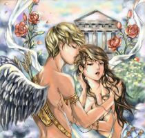 eros and psyche color-finished by bluemoon214
