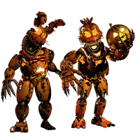 Jack-O-Bonnie and Jack-O-Chica by EndyArts