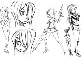Parasoul sketches 01 by oh8