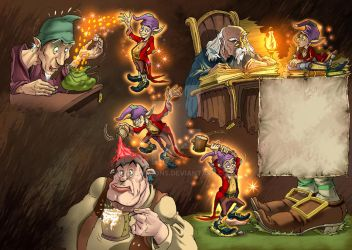Mischief of Goblins by CARUTOONS