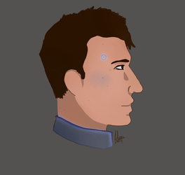 Connor DBH [Headshot] by BackFromHell666