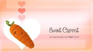 Free Sweet Carrot Knitting Desktop Wallpapers by AmareeLis