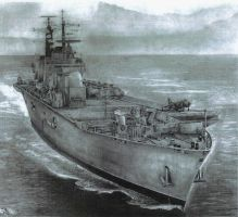 USS Illustious Sketch by angel1592