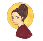 Quick Colored Sketch Of My Sis by MiMiMiLiter