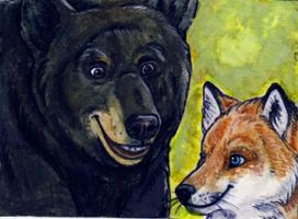 Sox and Nox Aceo card by nebby