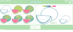 Weekly Challenge 34 - Melon by Lanahx3