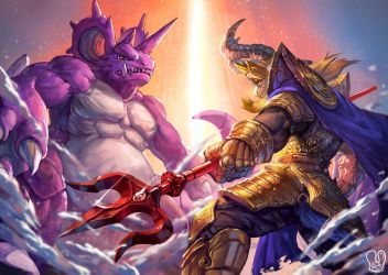 Pokemon x UNDERTALE : Asgore and Nidoking by Sa-Dui
