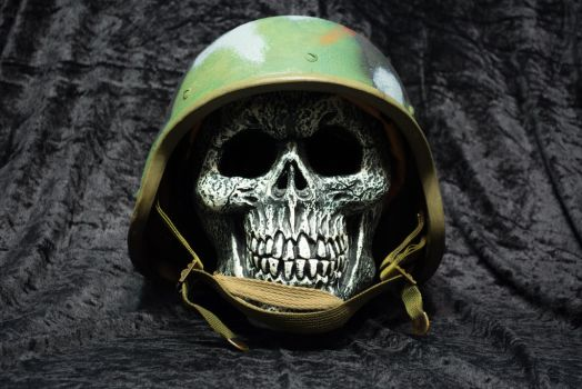 Army skull by Twilightbourne