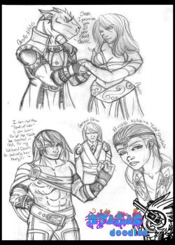 More Evalas Doodles by Fanglicious