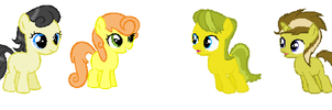 4 Newbies (help me name them) by Daddys-Girl1997