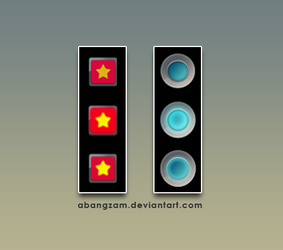Red and Blue Start Orbs Button by AbangZam