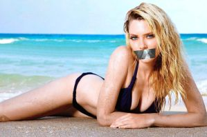 April Bowlby Gagged 3 by N099ER